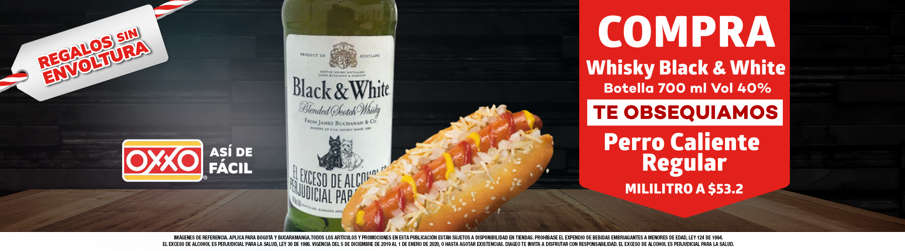 Black and White y Hot dog